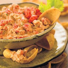 Crawfish Spread: 3 T butter  3/4 c finely diced onion   3/4 c finely diced celery  4 garlic cloves, minced  2 T salt-free seasoning blend 1/2 tea.cayenne pepper  8 oz peeled, cooked crawfish tails, finely chopped 1 (8-oz.) pkg cream cheese, softened  *Melt butter in a small skillet over medium-high heat. Add onion, celery, & garlic; sauté 5 minutes or until onion & celery are tender. Add seasoning blend & pepper & saute 30 seconds. Combine veg. & crawfish tails & add softened cream cheese & stir