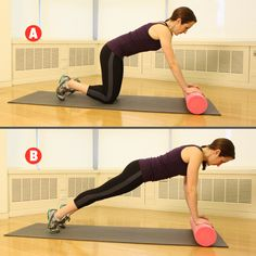 This challenging foam roller plank makes us love our favorite stretching tool even more! Try the ULTIMATE foam roller workout here: http://www.womenshealthmag.com/fitness/foam-roller-workout?cm_mmc=Twitter-_-womenshealth-_-content-fitness-_-foamrollerworkout