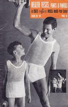 String vest string vest, vintag knit, knit underwear