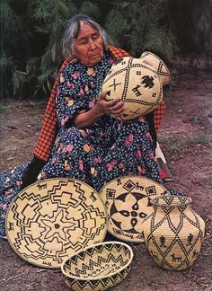 Basket artist in Arizona ~ by Old Chum