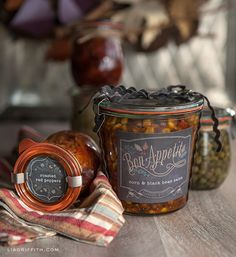 Printable Labels for Your Foodie Fall Gifts