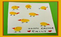 TODDLER EASTER CRAFTS: Easy Thumbprint Easter Chicks Card Craft and Easter Song for Kids!
