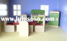 Doll House Furniture - Kitchen - Mini Wooden Toy