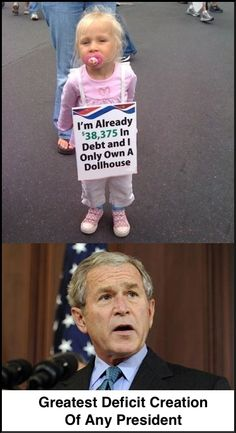 Unfounded & unfunded wars channel money to war profiteers while our children pick up the tab.