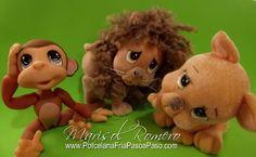 Animales de la Selva II - Porcelana Fria Paso a Paso animales porcelana, porcelana fria paso a paso, clay monkey
