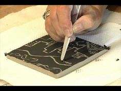 ▶ Tile Making: Part 1 Cutting Clay and Sgrafitto - YouTube