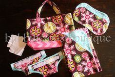 Doll diaper bag set dolly  stuffed animal  by bubbiliciousboutique