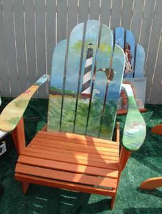 Dan Hinkley painted chairs