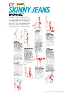 15-min 'skinny jeans' workout: butt, leg + core circuit (via Women's Health)