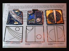 Jan Geisen wrote an article for the December 2011 issue of Polymer Cafe magazine called An Introduction to the Principles of Design.  Included with the article were templates and excercises for artists to try.  Jill Palumbo sent Jan the above photo showing her experimentation with the templates.