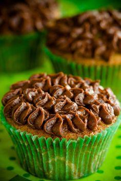 Eat me, I'm an Irish Coffee Brownie Cupcake! :D #cupcakes #brownies #food #baking #dessert #coffee #Irish #Ireland #green #St_Patricks_Day