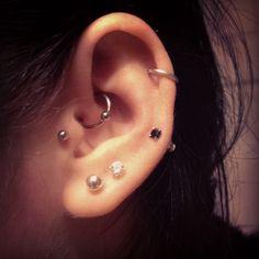 My ear piercings