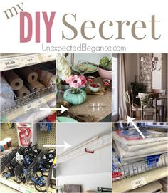My DIY Secret revealed!! See how I save money on craft and DIY supplies!