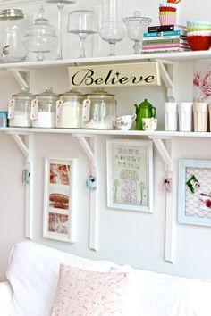 Fabulously Organized Kitchen Shelving | A DIY by Cherry Menlove