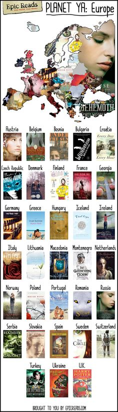Read across Europe with this #PlanetYA map made by Epic Reads!
