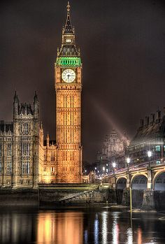 Big Ben, London, at night