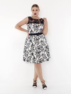 Toni Plus Spring 2014, Tadashi Shoji, plus-size dresses