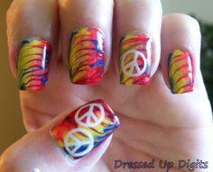 Hippie+Nail+Art | Summer Challenge--Hippie, retro