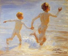 Peder Severin Krøyer - Danish painter, 1851-1909: Playa de Skagen