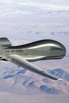 A Picture of The United States Air Force Global Hawk UAV Flying In The Air...