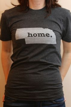 The #Nebraska Home T. Super soft, and a portion of profits are donated to multiple sclerosis research.(http://www.thehomet.com/nebraska-home-t-shirt)