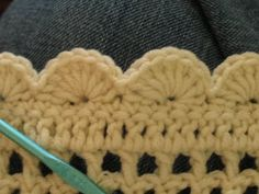Easy crochet scalloped border.