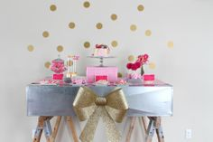 """We L-O-V-E this """"Love"""" Themed Party in Pink from @Jamie Dorobek {C.R.A.F.T.} That Party - Jenny Dixon! #partydecor"""