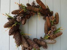 Pine cones wreath