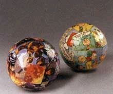 comic wrapped decorative balls #tutorial