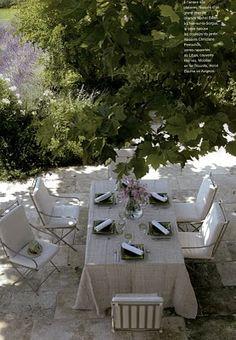 Al Fresco Dining - French style