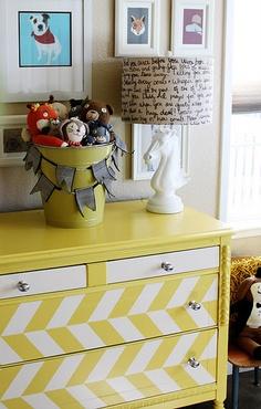 colorful, fun dresser
