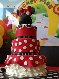Gorgeous Minnie Mouse Birthday Party cake!  See more party ideas at CatchMyParty.com!