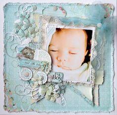 sweet baby boy layout by Karan Gerber