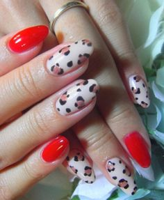 Fun-Nail-Art-Designs-Pictures-Red-Leopard