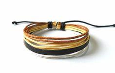 Jeweler bracelet leather bracelet men by braceletbanglecase, $3.00