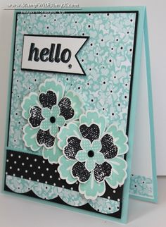 Petite Petals with Lots of Flowers Card - Stampin' Up!
