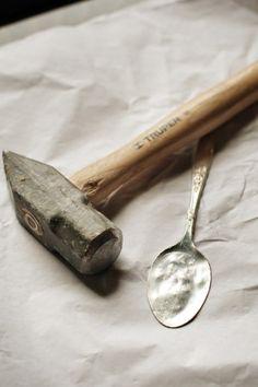 hammered spoon tutorial