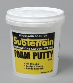 Woodland Scenics Foam Putty, Pint WOOST1447:Amazon:Toys & Games