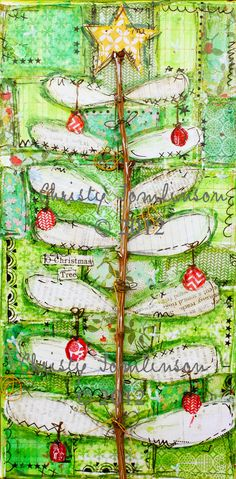 Oh Christmas Tree Mixed Media Print by Christy Tomlinson