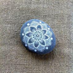 Mandala Painted Pebble by MagaMerlina on Etsy