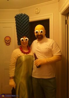 Marge and Homer Simpson costume idea for couples