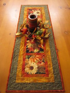 Fall Harvest Quilted Table Runner