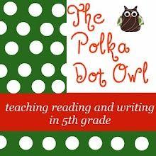 polka dots, teaching reading, reading journals, 5th grade reading