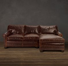 Restoration Hardware Lancaster sofa with chaise. Want. SO. Bad.