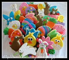 Fun Easter Cookies...only thing missing is the green grass and a basket