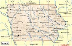 state of iowa map
