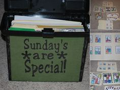 Sundays are Special Box--activities to keep us busy when church is over, or when we're waiting for it to start. box idea, stuff, gospel, churches, boxes, activ box, lds sunday activities, sundays are special, special box