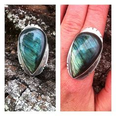 Size 7 Sterling Silver and Labradorite by GypsyPeacockJewelry, $142.00