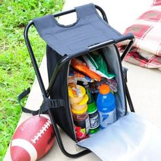 It's a backpack, cooler and a chair! This is the ultimate #camping gear.