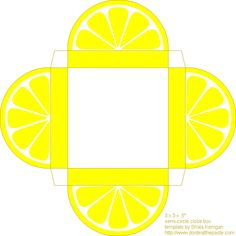 Printable Citrus box for little Favors :)